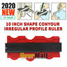 10 Inch Shape Contour Irregular Profile Ruler Plastic Gauge for Duplicator Scale