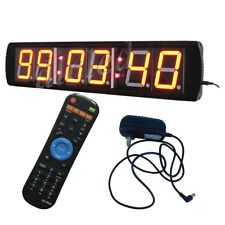 4 INCH LED WALL CLOCK 6 DIGITS Countdown/up Timer LED TIMER 28.5x6.3x1.6in.