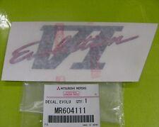 MITSUBISHI LANCER EVO 6 CP9A BOOT DECAL EVOLUTION VI MR604111 RED/BLACK/GREY JDM
