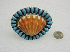 NEW STERLING SILVER TURQUOISE SPINY OYSTER CUFF BRACELET TONYA RAFAEL N361-A