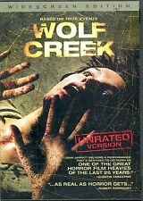 """WOLF CREEK - DVD - UNRATED VERSION - """"As Real As Horror Gets..."""" VG"""