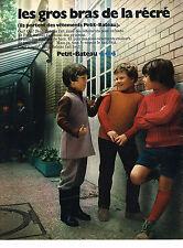 PUBLICITE ADVERTISING  1971   PETIT-BATEAU   pret à porter vetements