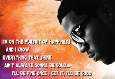 Rapper Kid Cudi - Pursuit of Happiness - A3 Art Poster Print