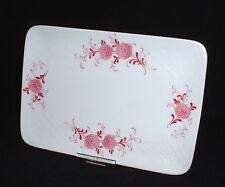 Seltmann Weiden ANNABELL rosa Blume Rose ~ Platte / Butterplatte 18 x 12,5 cm