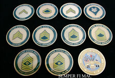 10 CHALLENGE COIN SET US ARMY ENLISTED RANK SGT PIN UP GIFT RETIREMENT VETERAN