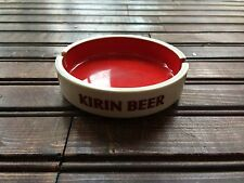 Vintage Kirin Beer Red White Porcelain Sakura Ashtray Japan