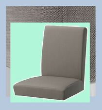 """IKEA Henriksdal 21""""Chair Cover Nolhaga Gray-Beige NEW Cover-MultiShipDiscnt Grey"""