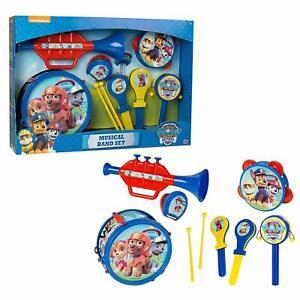 Paw Patrol Musical Band Kids Music Toy - Drum Trumpet Tambourine New