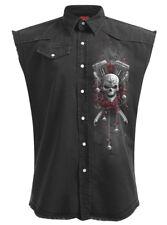 Spiral Direct DOTD BIKERS SLEEVELESS WORKER/Shirt/Skull/Biker/M-L-XL-XXL-4XL