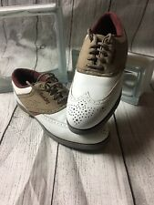 Footjoy Fj Women 7 M Tcx Golf Shoes #98208 Brown White Saddle Oxfords