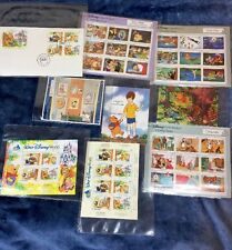 Disney Stamp Collection, Snow White, Winnie The Pooh, Peter Pan, Pinocchio