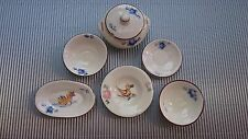 Miniature Tiny Set of 6 China Porcelain Doll House Tureen and Dishes