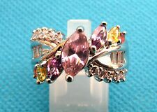 925 Multi-Gemstone Mix - Garnet, Citrine, Amethyst, Size R 1/2, US 8.75 (rg1320)