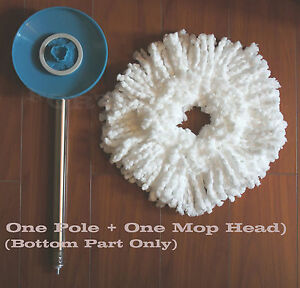 Replacement Metal Pole Bottom Part B + Mop For 360° Hurricane Magic Spin Mop NEW