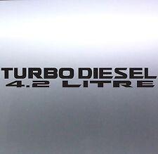 Turbo diesel 4.2 litre 500x65mm patrol 4x4 Vinyl Car Sticker Australian made GU