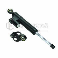Universal Motorcycle Adjustable Steering Damper Stabilizer Parts Aluminm Black