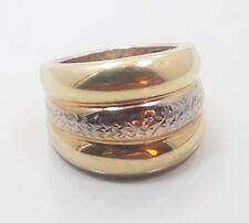 Beautiful Modern 14k Yellow White Gold Milor Ladies Ring Size 6.75