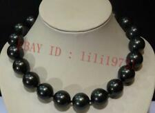 """NEW!20mm AAAA Black South Sea Shell Pearl Round Beads Necklace 18"""""""