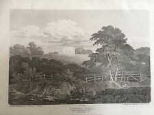 1807 Print of Copped Hall  or Copthall, Epping, Essex