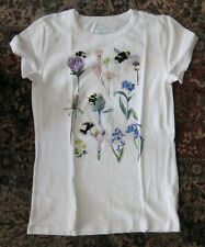 """J.CREW CREWCUTS x XERCES – """"SAVE THE BEES"""" EMBELLISHED GIRLS' TEE T-SHIRT SZ 14"""