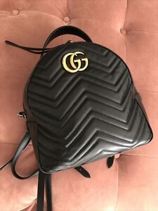 Gucci  GG Marmont Backpack Rucksack Quilted Leather
