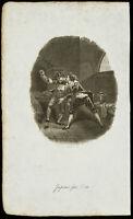1834 - Grabado Sobre DE Fantasía - Jacques de Vries - Rixe , Escape