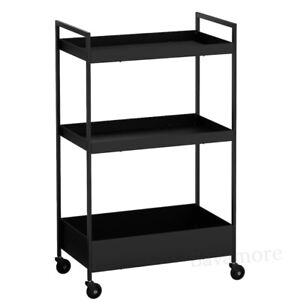 """IKEA NISSAFORS Utility cart Steel with Casters Black 19 7/8x11 3/4x32 5/8"""" NEW"""