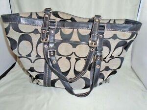 BEAUTIFUL Coach  Shoulder Bag Signature East/West Gallery black k0817-f13097