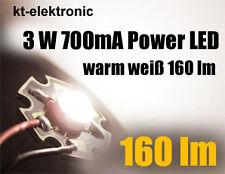 10 Stück Power LED 3W 700mA warm weiß 160 lm