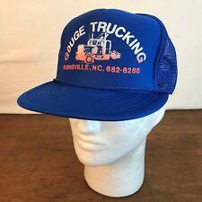 Gouge Trucking Burnsville NC Blue Mens Foam Mesh Trucker Snapback Cap (CH9)