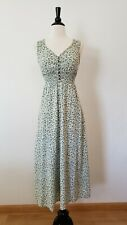 Anthropologie Maxi Dress New Size Small Green Mint Floral Button Smocked Boho