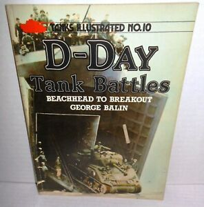 BOOK Arms & Armour Press Tanks Illustrated #1 D-Day Tank Battles by G Balin op