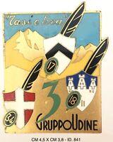 Alpini 3° Gruppo Udine 17/18/34 distintivo variante grande produttore Granero