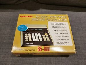 Radio Shack / Tandy EC-2001 VFD Calculator + Box (COMPLETE) Tested 100% & Mint