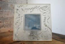 Clear and Silver Curly Ribbon Picture Frame