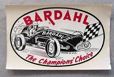 original 1950's BARDAHL THE CHAMPIONS' CHOICE race car Dri-mark decal REVERSE