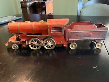 ANTIQUE EARLY 1900s DAYTON TOYS HILLCLIMBER STEAM ENGINE & TENDER FLOOR TRAIN