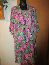 Periwinkle Multicolored Floral Pattern Sleeveless Dress with jacekt size 20W