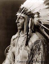 "Native American Arikara Man ""White Shield"" - 1908 - Historic Photo Print"