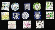 Japan.....album kaart met gebruikte postzegels laatste jaren