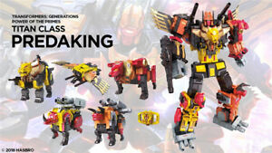 New Hasbro transforms Power of The Primes POTP Titan Predacon Predaking No Box