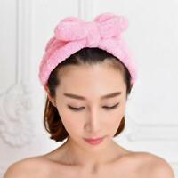 Elastic Stirnband Pure Color Coral Fleece Bogen Haarband für Wash Face Make-up