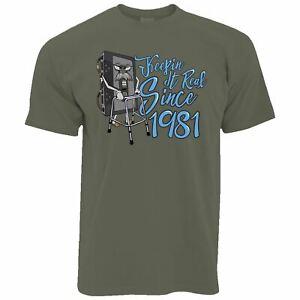 Mens Funny 40th Birthday T Shirt Keep It Real Since 1981 Cassette Retro Tshirt