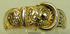 A FINE VICTORIAN ANTIQUE 18CT GOLD BUCKLE RING, CHESTER 1904, SIZE N1/2, 4 GRAMS