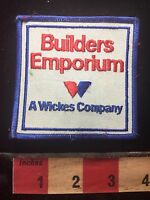 Vtg Advertising Patch BUILDERS EMPORIUM A WICKES COMPANY C761