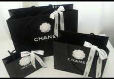 Chanel *Authentic Set of 3 Paper Shopping Gift Bag & Camelia Flower Various Size