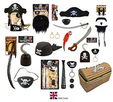 PIRATE FANCY DRESS COSTUME ACCESSORY Party Toy Dress Up Birthday Caribbean Lot