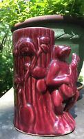 Vintage USA Pottery Planter / Vase, Frog Playing Guitar