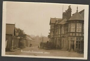 Postcard Edwinstowe nr Mansfield Nottinghamshire the Rufford Road posted 1917 RP