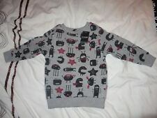 brand new with tags boys grey sweatshirt top 12-18 months 1-1.5 years monsters
